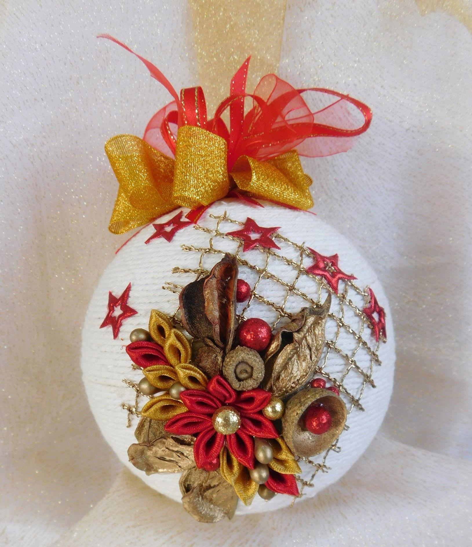 Piekna Bombka Sznurkowa Boze Narodzenie Rekodzielo 7594330796 Oficjalne Archiwum Allegro Diy Christmas Ornaments Christmas Ornaments Homemade Paper Christmas Ornaments