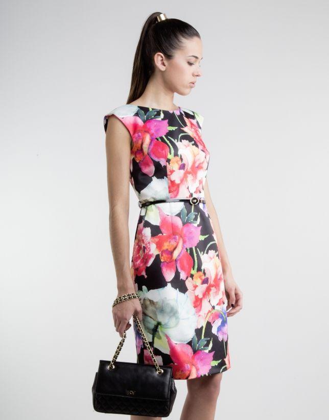 2f509f510 Vestido recto estampado floral