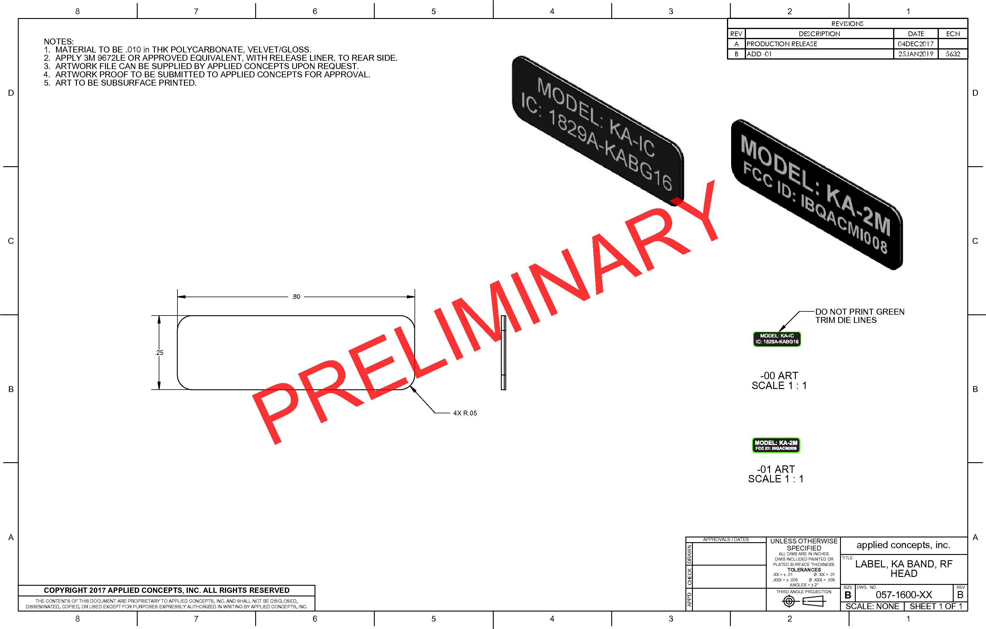 Applied Concepts Inc Stalker KA Band Radar ACMI008