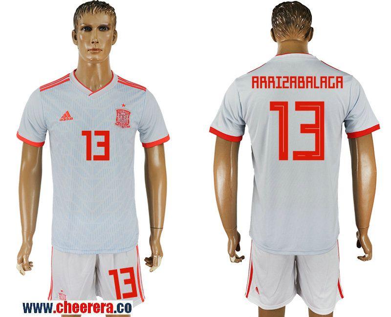 dfde4b4931f ... france spain 13 arrizabalaga away 2018 fifa world cup soccer jersey  6c873 4aaa1