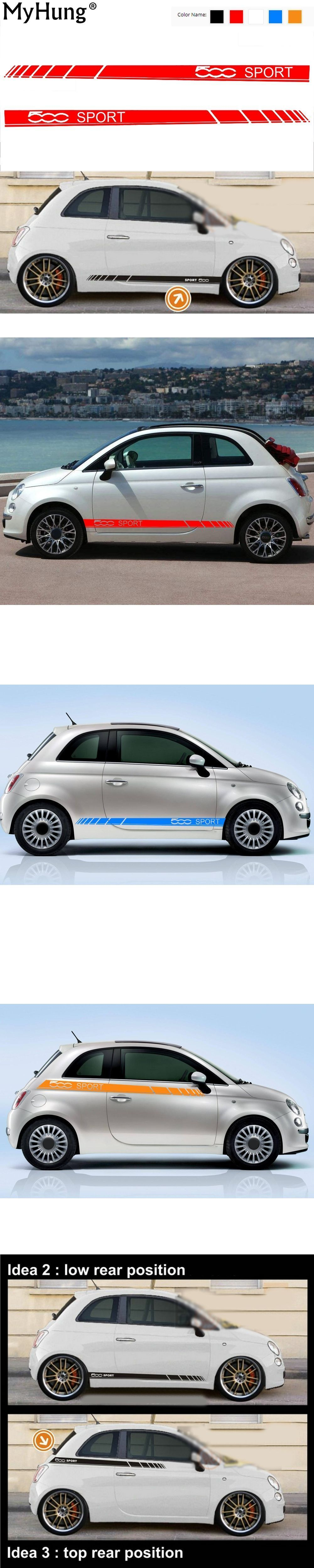 Car Body Sticker For Fiat 500 Sport Car Stickers And Decals Decoration Protection Sticker Car Styling Auto Accessori Fiat 500 Sport Car Accessories Sports Cars [ 5000 x 1000 Pixel ]