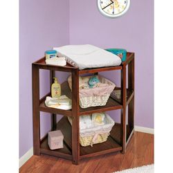 Badger Basket Cherry Diaper Corner Changing Table | Overstock.com Shopping    The Best Deals On Changing Tables
