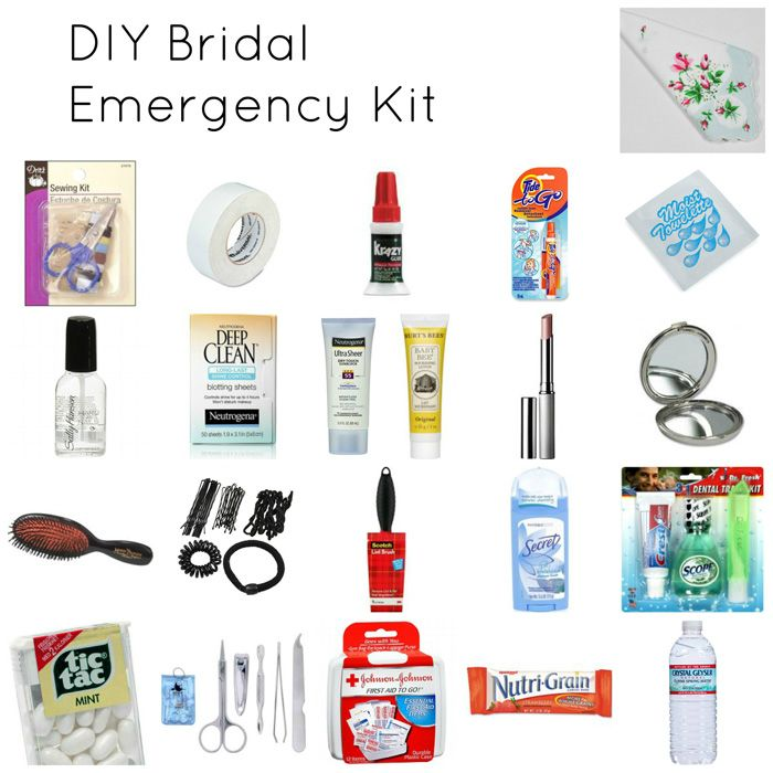 Wedding Day Emergency Kit A Must Have Checklist For Brides Bumblebee Linens Wedding Emergency Kit Bridal Emergency Kits Diy Wedding Day