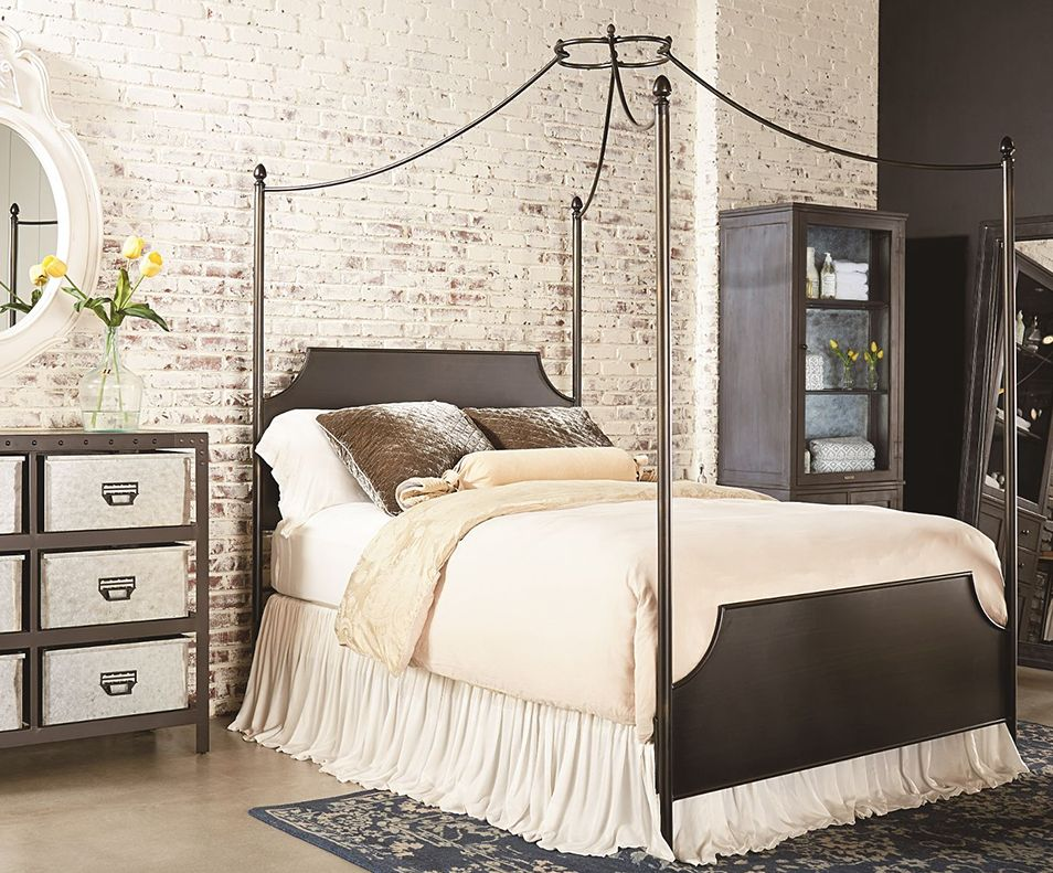 Magnolia Home Furniture Iron Canopy Bed Traditional Bedroom Magnolia Homes