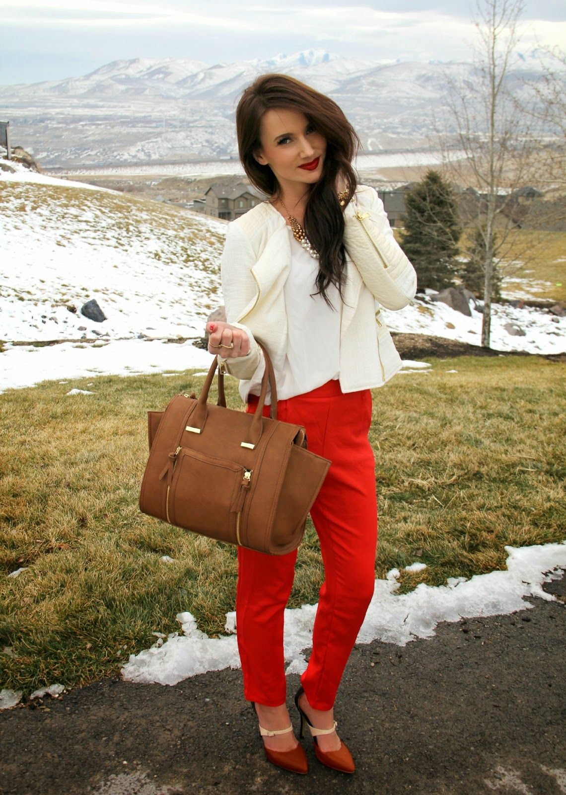 5edd97a5 Red & White featuring Lulu's (Kiss Me Darling) | Fashion | Red pants ...