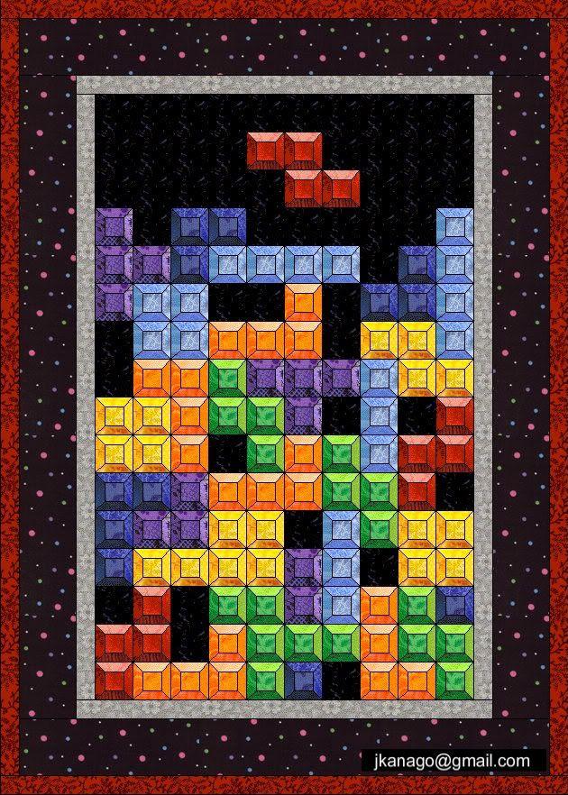 QuilterGeek: How to make a Tetris Quilt | Quilty: Patterns, Tips