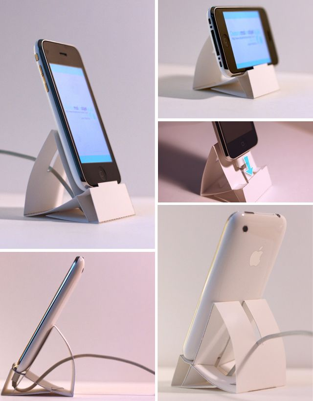 diy iphone paper dock by desinemoiunobjet d is for d co diy dimy doing it myself. Black Bedroom Furniture Sets. Home Design Ideas