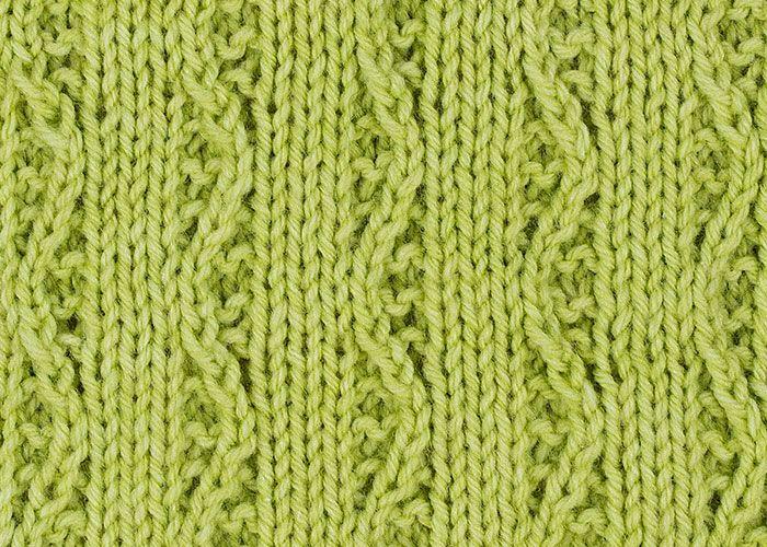 Zigzag Column Stitch.  A little twist on basic ribbing.