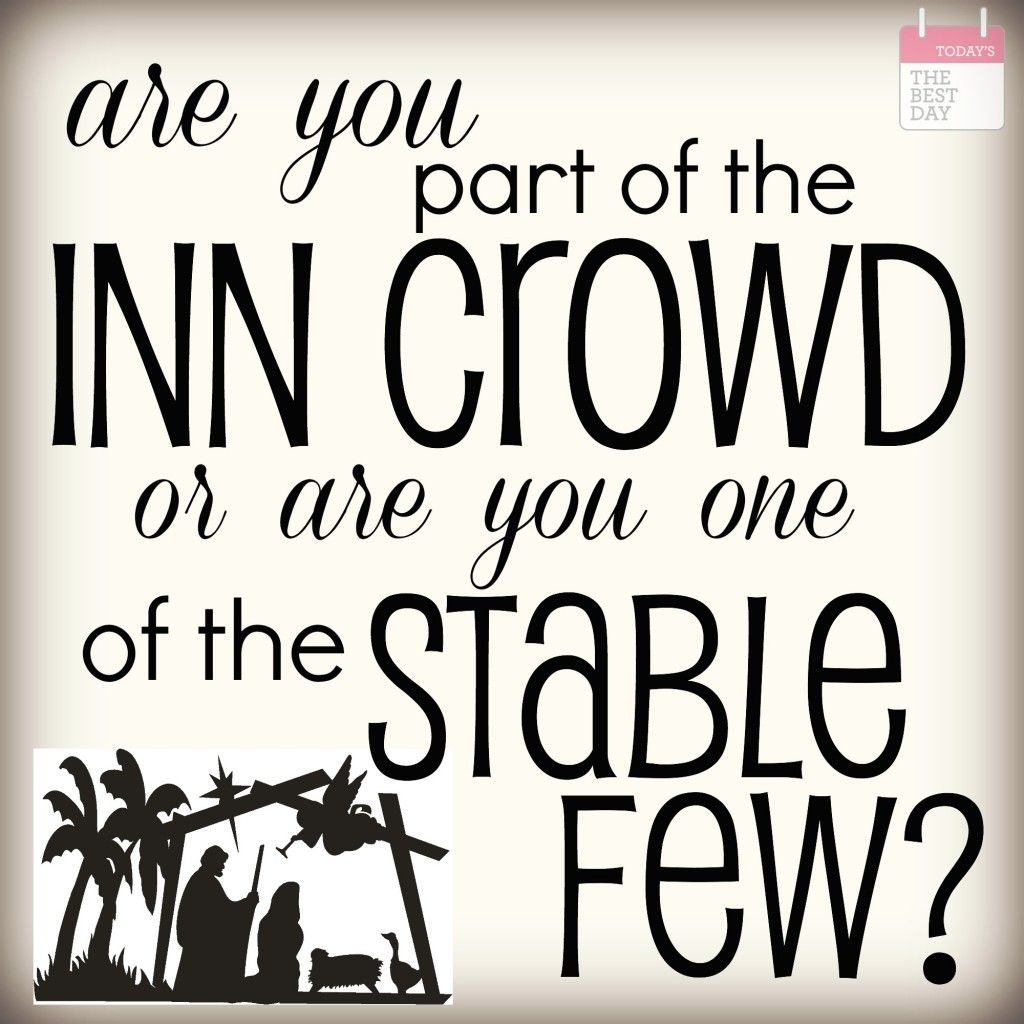 are you part of the inn crowd or are you on of the stable few ...