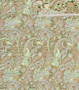Renaissance Dress fabric options: Brocade Fabric- Gold/Aqua Tapestry