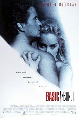 Basic Instinct (1992) movie poster reproduction single-sided rolled