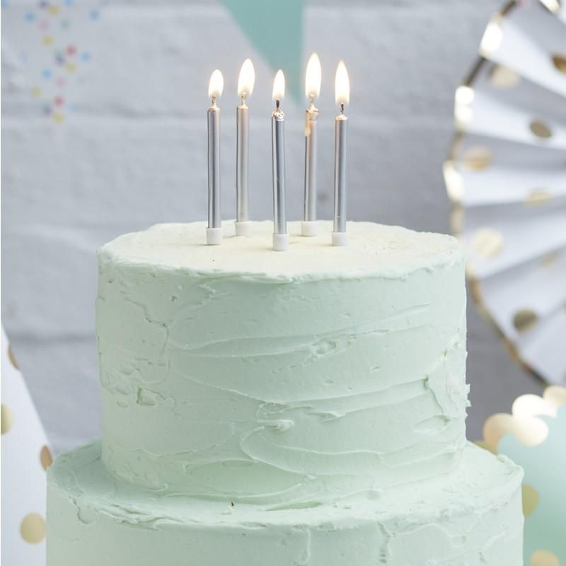 Ginger Ray Pick Mix 24 Silver Candles Party Pinterest
