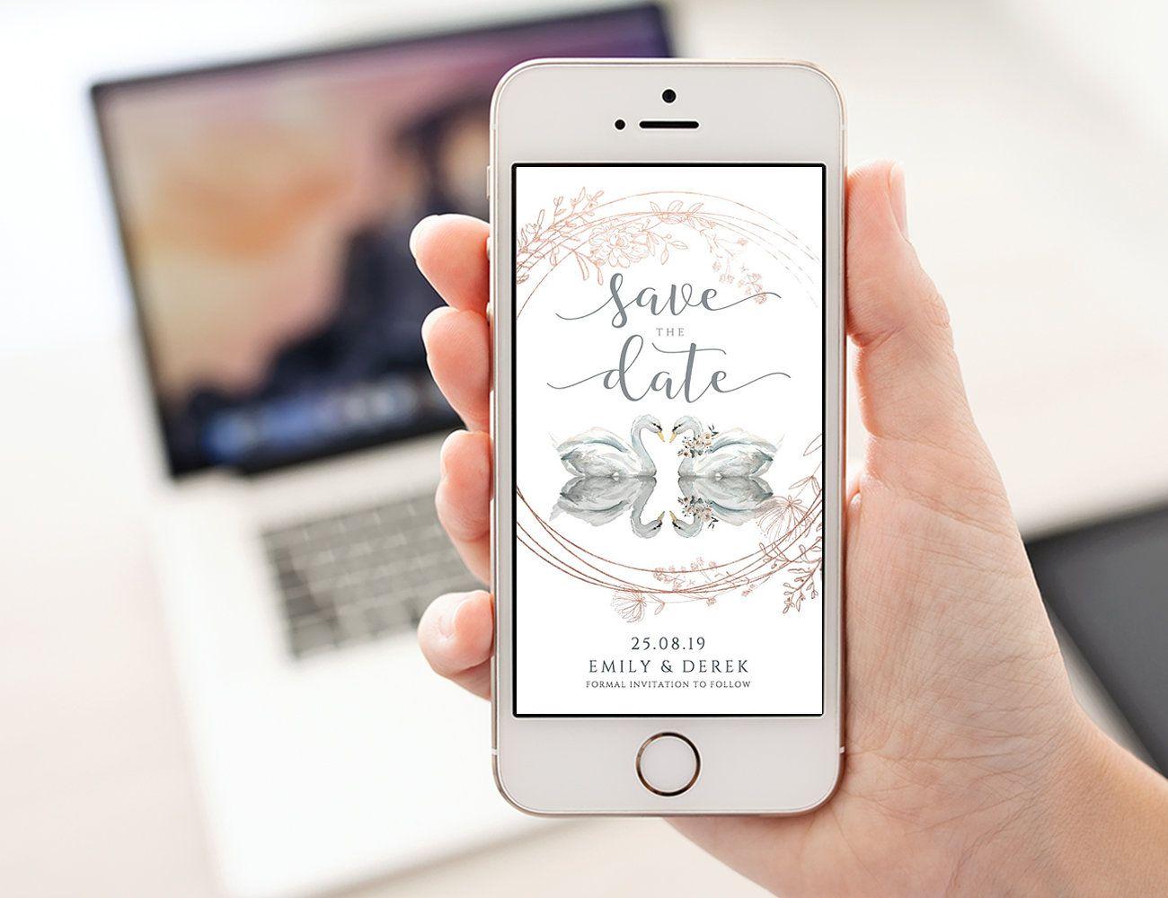 Romantic Invitation Electronic Save the Date Invite