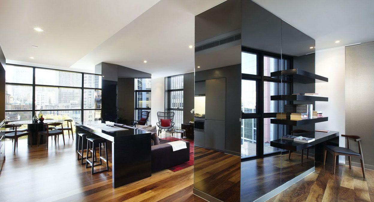 dark apartment design - Google Search & dark apartment design - Google Search   City Terrace Apt   Pinterest ...