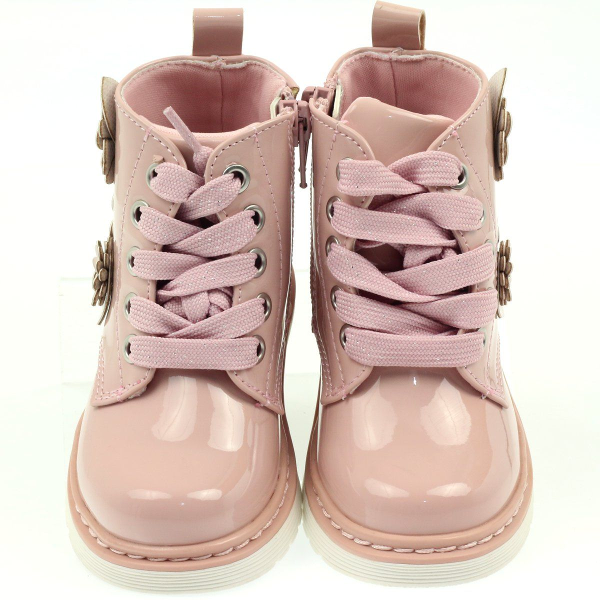 Polbuty I Trzewiki Dzieciece Dla Dzieci Americanclub American Club Rozowe Trzewiki Botki Kwiatki American 14247 Baby Shoes Boots Shoes
