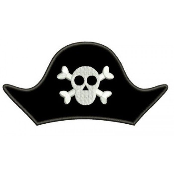 Pirate Hat Skull And Bones Applique Digitized Machine Embroidery Design Pattern Instant Download 4x4 5x7 6x10 Pirate Hat Template Pirate Hats Pirate Hat Drawing