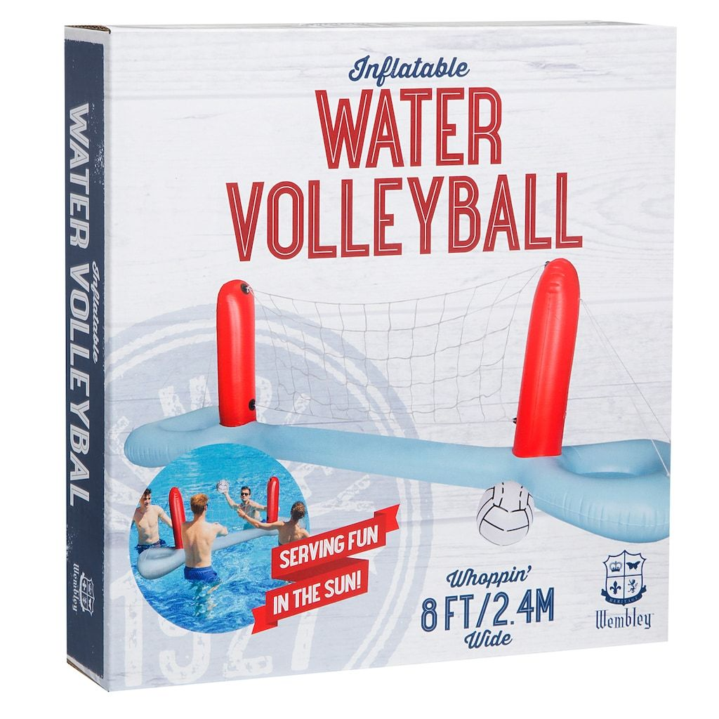 Inflatable Pool Volleyball Set In 2020 Volleyball Set Volleyball Fun Games