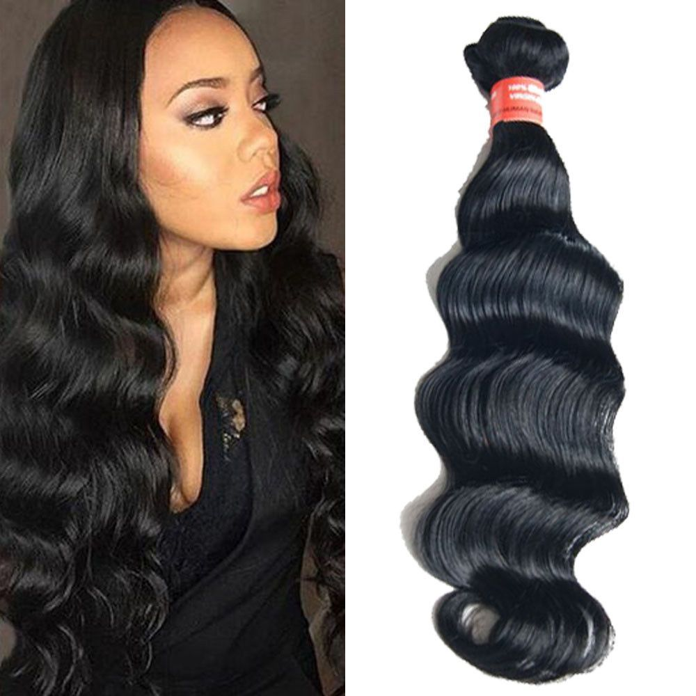 G b deep wave virgin real human hair extension brazilian hair