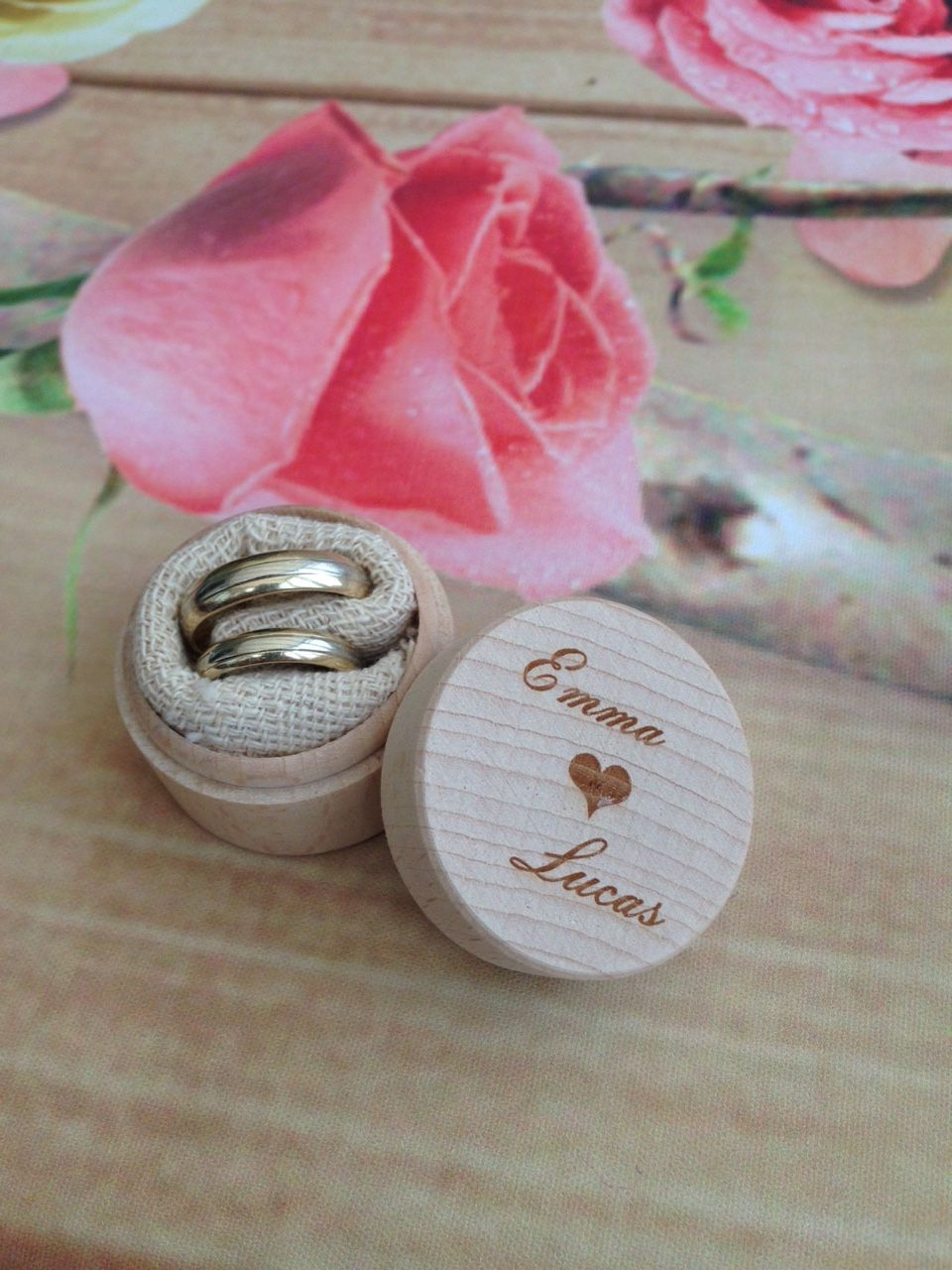 Pin by HomeDecoArt Ltd on Personalised Wooden Box Wedding Rings Box ...