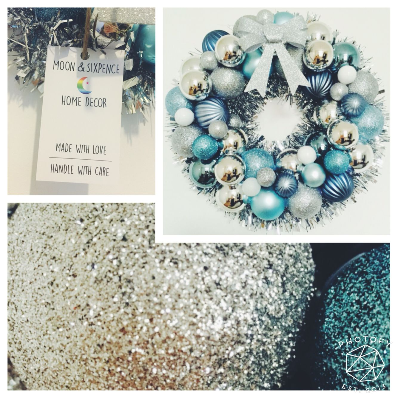 Turquoise and silver mix