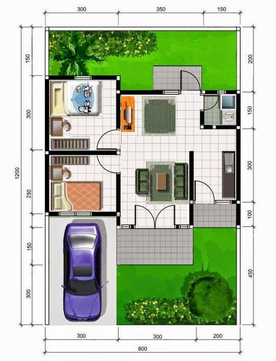 Rumah Minimalis Type 45 One Floor Plane Pinterest Small House