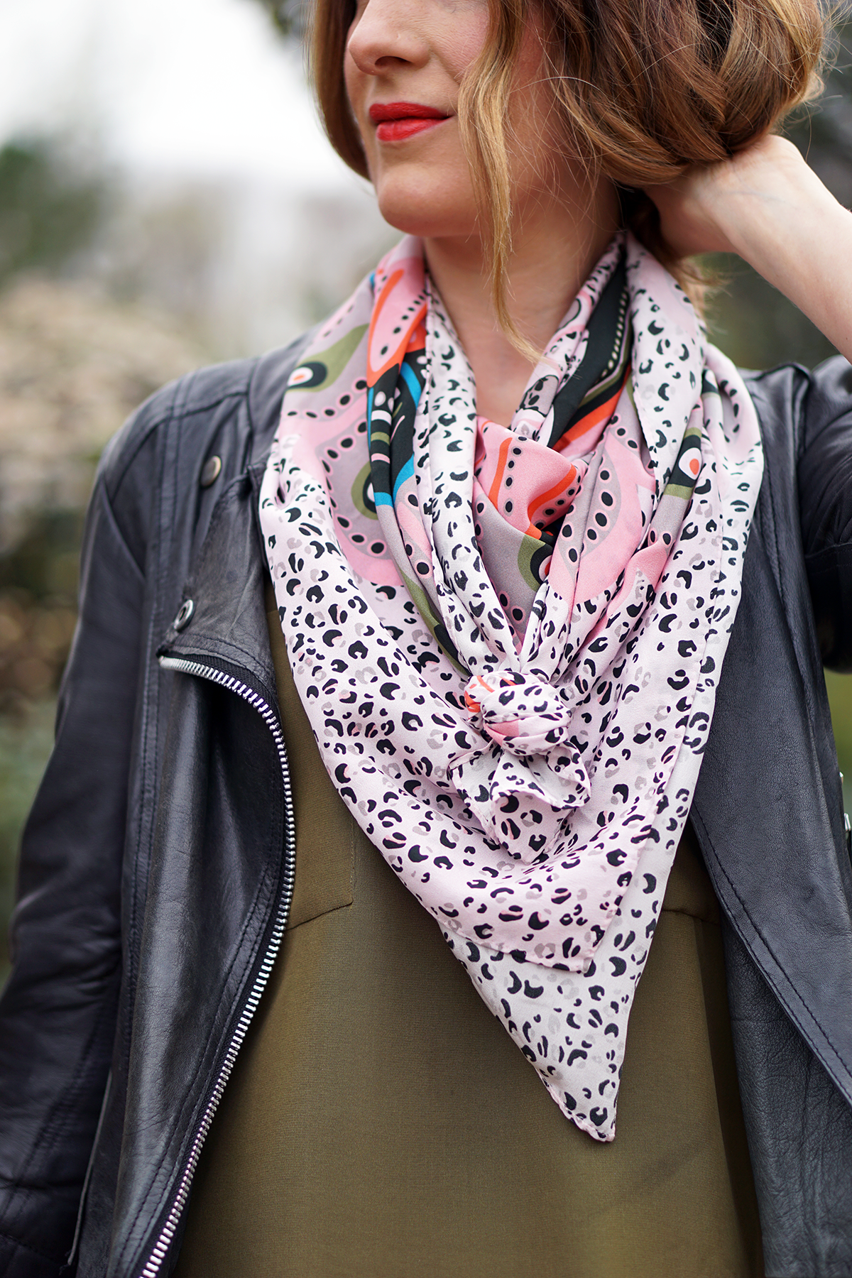 2019 year look- Silk long scarf how to wear