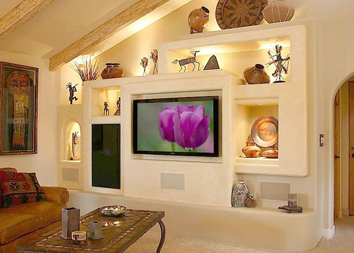 14 Breathtaking Gypsum Board And Niches For TV Wall Unit | West ...