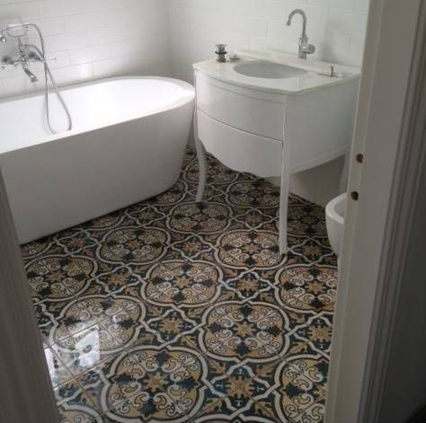 Decorative Floor Tiles See Original Image  Bathrooms  Pinterest  Moroccan Bespoke And