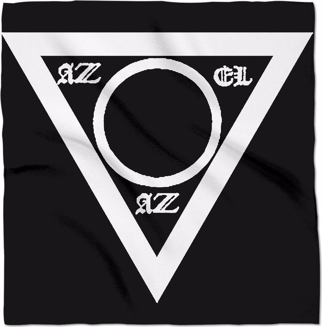 Azazel White/Black Triangle of Evocation Ritual Cloth