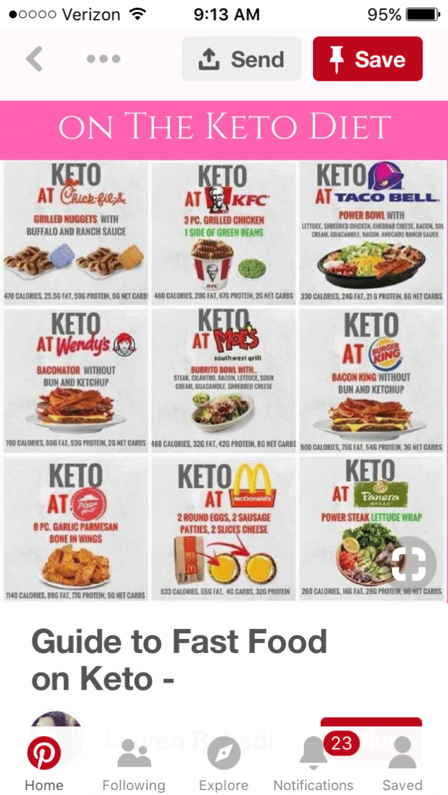 Fast Food Keto Fastdiet Low Carb At Restaurants Keto Fast Food Keto Diet Recipes