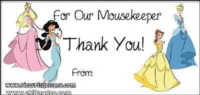 Mousekeeping & Tip Envelopes | Picturing Disney