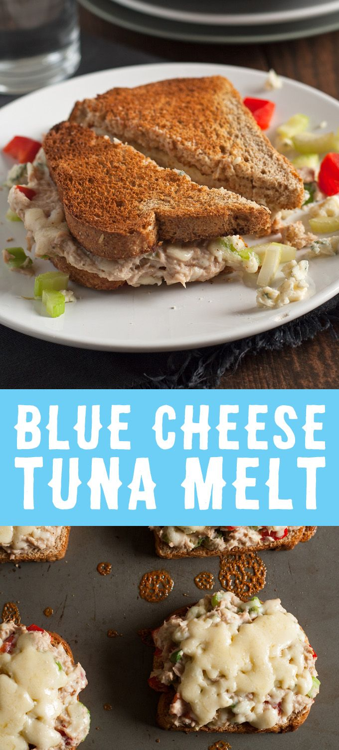 This blue cheese tuna melt is great for weekend lunches and brunch ...