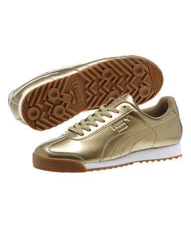 Gold Roma Pnt Ano Jr Sneaker - Kids #zulily #zulilyfinds