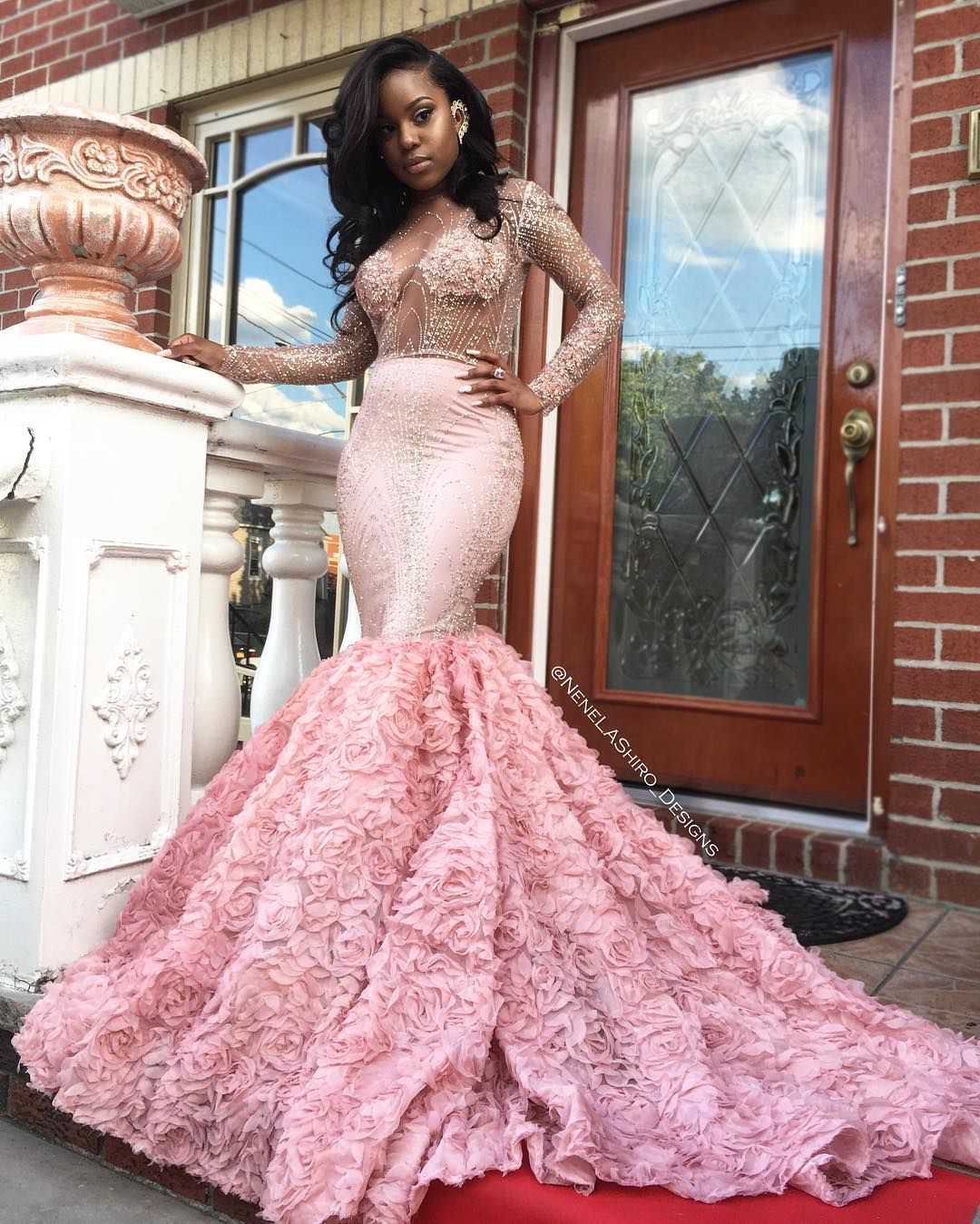 Lace wedding dress pink october 2018 Pin by Destiny Spruiel on Prom ideas in   Pinterest  Prom