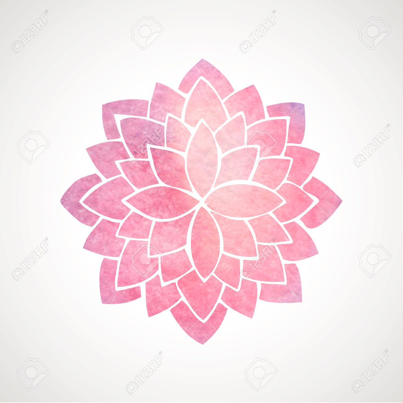 Pin by sean kenney on flowas pinterest white lotus flower white photo about watercolor pink lotus indian oriental circled element for design flower pattern on white background izmirmasajfo