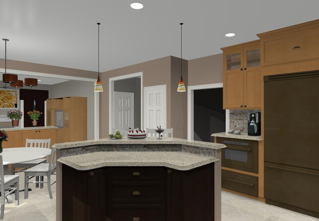Two Tier Kitchen Island | Different Island Shapes For Kitchen Designs And  Remodeling