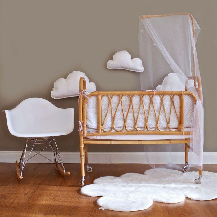 Kinderzimmer Einrichten Babybett Baldachin Himmelbett Bambus Skandinavische  Design Sessel