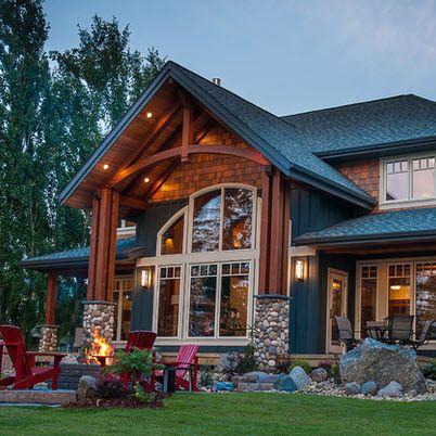 Fachadas de casas rústicas, diseños y materiales Pinterest