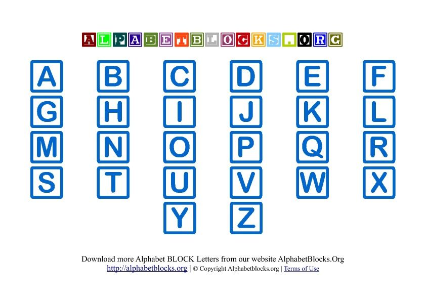 nice abc blocks clipart hd ABC Uppercase Alphabet Block ...