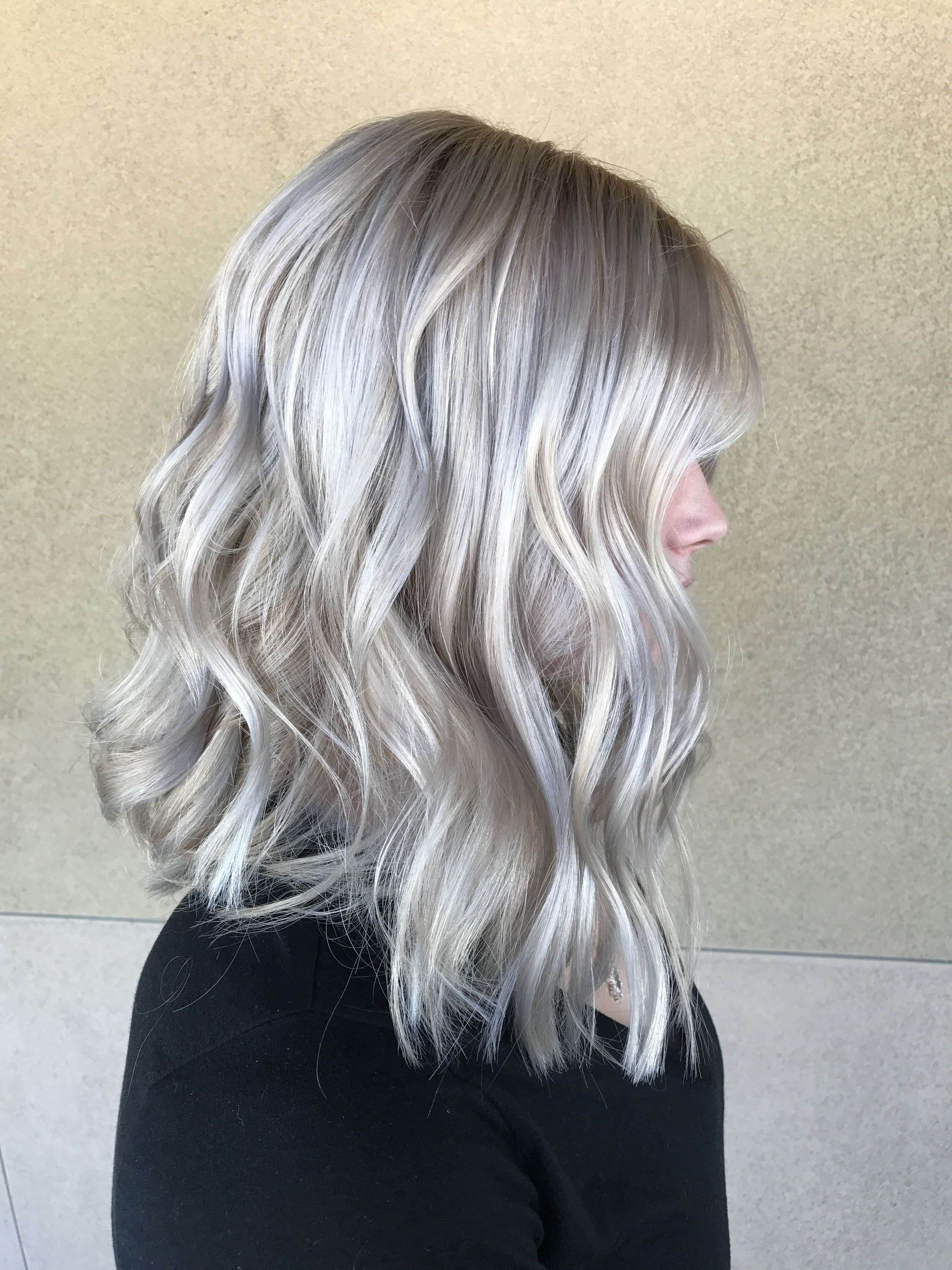 Icy Platinum Blonde Hair Short Hair Blonde Hair With Images