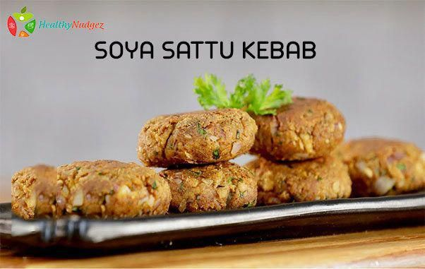 Soya Sattu Kebab Soya is a best plant based protein food. Soya chunk kebab is nutritious and tasty recipe which would be perfect vegetarian starter  #SoyaSattuKebab #ProteinFood #SoyaChunkNutrition #HealthyLife #HealtyFood #HealthyNudgez #soyarecipe