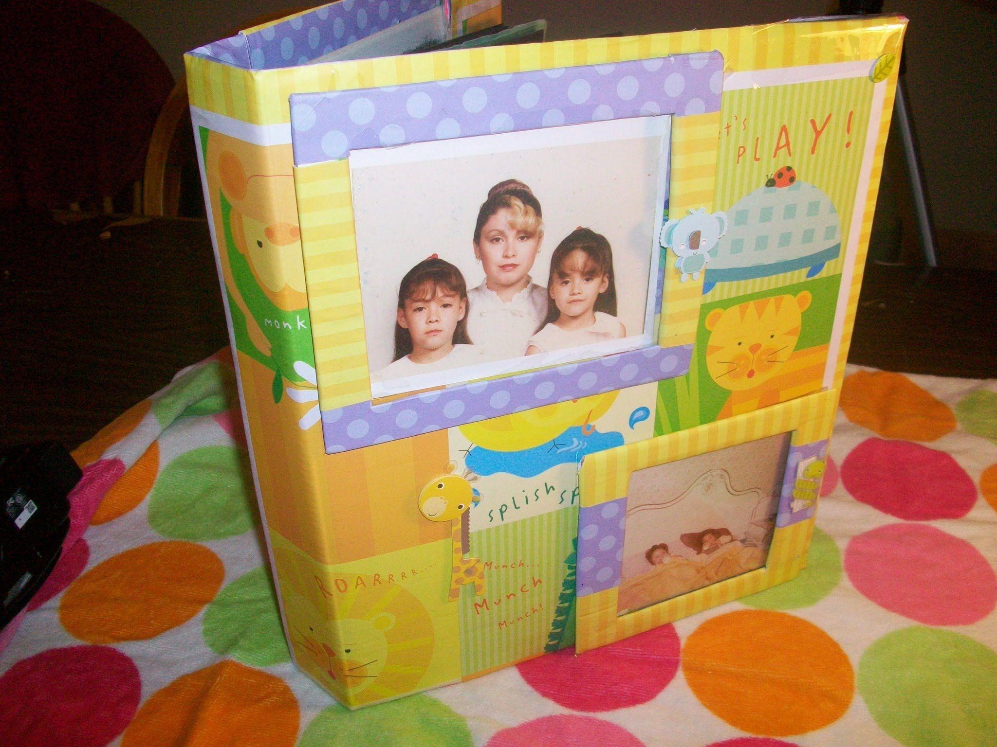 Manualidad reciclaje forro y decoracion de album o for Reciclaje manualidades decoracion