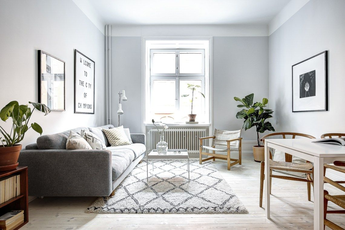 Simple Home With Clean Lines Via Cocolapinedesign Com Hogares  -> Sala Simples Clean