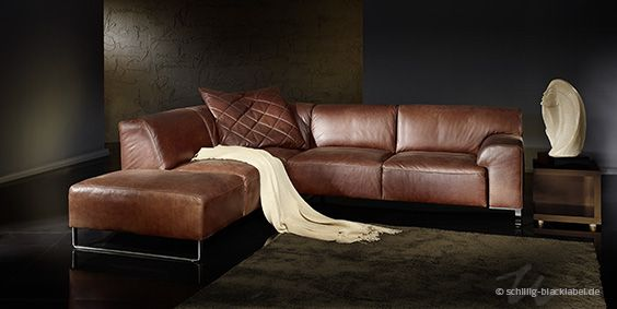 Comfortable Schillig Sofa With Chaise Lounge: Sensational For Dark Living  Room Interior Decoration Inspiration Ideas Brown Schilling Sofa De.