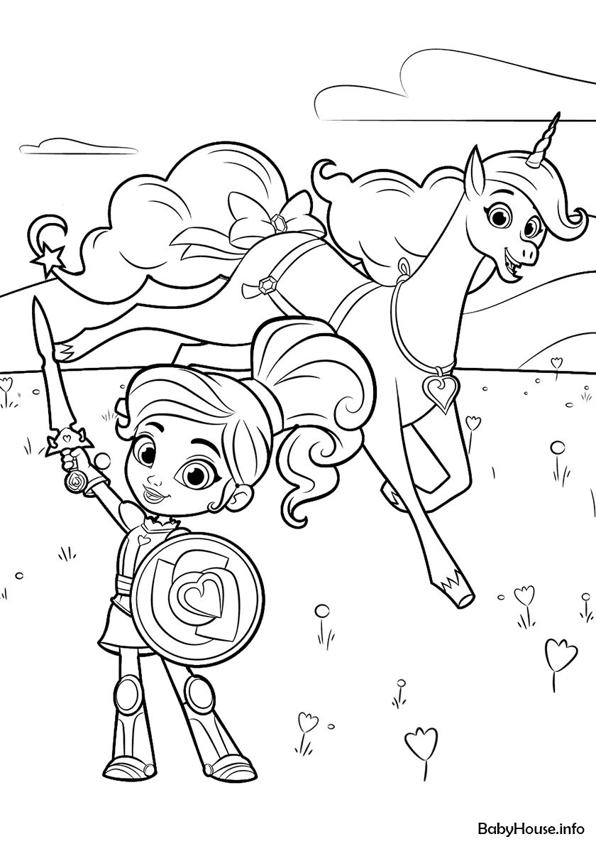 Nella Princess Knight Coloring Page Princess Coloring Pages Princess Coloring Coloring Pages