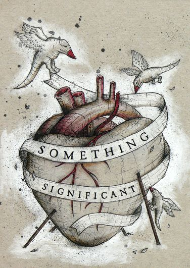 Kaitlin Beckett. Something Significant, 2009. Coloured Pencil, ink on recycled card.