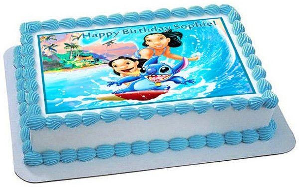 Remarkable Lilo Stitch Edible Birthday Cake Topper Or Cupcake Topper Decor Funny Birthday Cards Online Alyptdamsfinfo