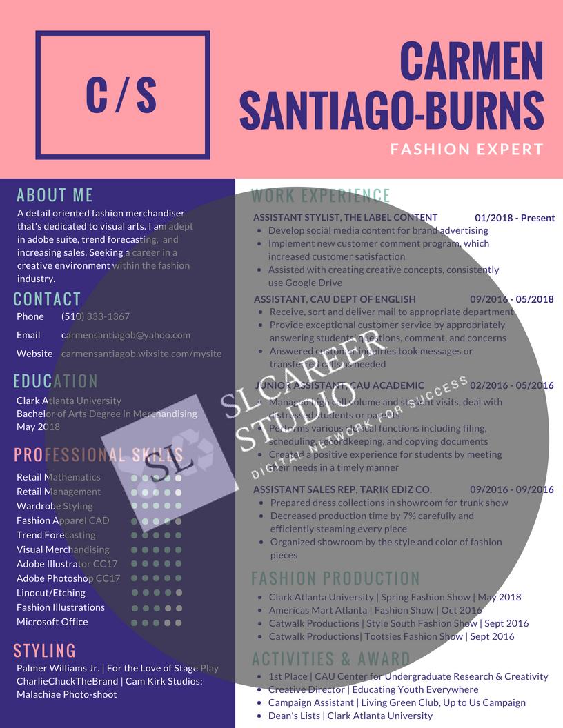 Part II•Beauty Resume• New resume modified bt slCareer Studio career ...