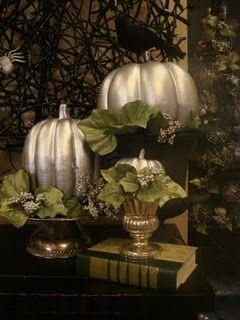 Pretty Spooky Halloween Decor I Just Painted 1 Walmart Pumpkins