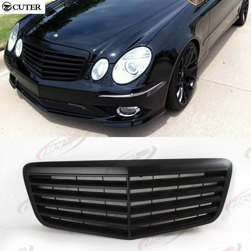 W211 E200 E240 Abs All Black Front Bumper Grille For Benz W211 E280 E300 07 09 Affiliate Benz Auto Abs